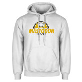 White Fleece Hoodie-Soccer Ball