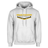White Fleece Hoodie-Softball plate