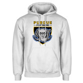 White Fleece Hoodie-Primary Athletic Logo