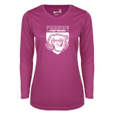 Ladies Syntrel Performance Raspberry Longsleeve Shirt-Primary Athletic Logo