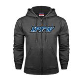 Charcoal Fleece Full Zip Hoodie-IPFW