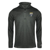 Russell Charcoal Heather 1/4 Zip-Primary Athletic Logo