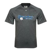 Under Armour Carbon Heather Tech Tee-Softball Design