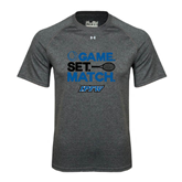 Under Armour Carbon Heather Tech Tee-Game Set Match Tennis Design