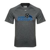 Under Armour Carbon Heather Tech Tee-Soccer Swoosh Design