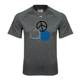 Under Armour Carbon Heather Tech Tee-Peace, Love, and Volleyball