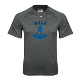 Under Armour Carbon Heather Tech Tee-Golfer Golf Design