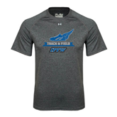 Under Armour Carbon Heather Tech Tee-Track and Field Side Shoe Design