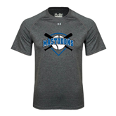 Under Armour Carbon Heather Tech Tee-Softball Bats and Plate Design