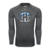 Under Armour Carbon Heather Long Sleeve Tech Tee-IPFW Mastodon Shield