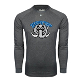 Under Armour Carbon Heather Long Sleeve Tech Tee-Arched IPFW with Mastodon