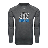 Under Armour Carbon Heather Long Sleeve Tech Tee-Mastodon with IPFW