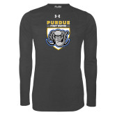 Under Armour Carbon Heather Long Sleeve Tech Tee-Primary Athletic Logo