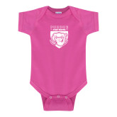 Fuchsia Infant Onesie-Primary Athletic Logo