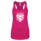 Next Level Ladies Raspberry Ideal Racerback Tank-Primary Athletic Logo