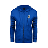 ENZA Ladies Royal Fleece Full Zip Hoodie-IPFW Mastodon Shield
