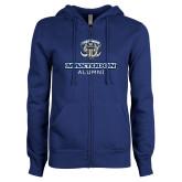 ENZA Ladies Royal Fleece Full Zip Hoodie-Mastodon Alumni