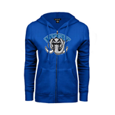 ENZA Ladies Royal Fleece Full Zip Hoodie-Arched IPFW with Mastodon