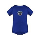 Royal Infant Onesie-IPFW Mastodon Shield