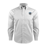 Red House White Long Sleeve Shirt-IPFW Mastodon Shield