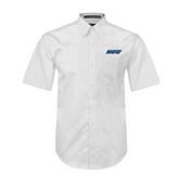 White Twill Button Down Short Sleeve-IPFW