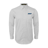 White Twill Button Down Long Sleeve-IPFW