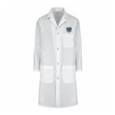 Ladies White Lab Coat-IPFW Mastodon Shield