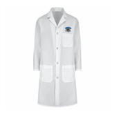 Ladies White Lab Coat-Arched IPFW with Mastodon