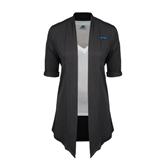 Ladies Grey Drape Front Cardigan-IPFW
