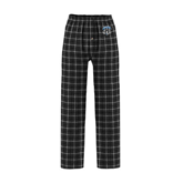 Black/Grey Flannel Pajama Pant-IPFW Mastodon Shield