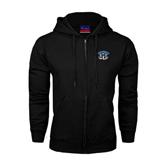 Black Fleece Full Zip Hoodie-Arched IPFW with Mastodon