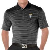 Callaway Core Stripe Black/White Polo-Primary Athletic Logo