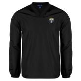 V Neck Black Raglan Windshirt-Primary Athletic Logo