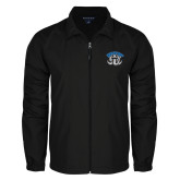 Full Zip Black Wind Jacket-Arched IPFW with Mastodon
