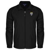 Full Zip Black Wind Jacket-Primary Athletic Logo
