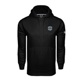Under Armour Black Performance Sweats Team Hoodie-IPFW Mastodon Shield