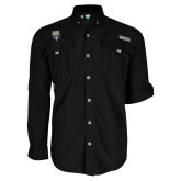 Columbia Bahama II Black Long Sleeve Shirt-Primary Athletic Logo
