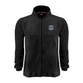 Fleece Full Zip Black Jacket-IPFW Mastodon Shield