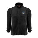 Fleece Full Zip Black Jacket-IPFW Mastodon Shield