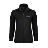 Ladies Fleece Full Zip Black Jacket-IPFW