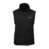 Fleece Full Zip Black Vest-IPFW