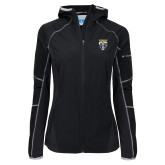 Columbia Ladies Sweet As Black Hooded Jacket-Primary Athletic Logo
