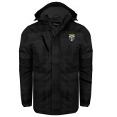 Black Brushstroke Print Insulated Jacket-Primary Athletic Logo