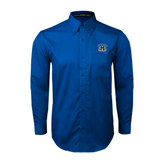 Royal Twill Button Down Long Sleeve-Arched IPFW with Mastodon