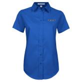 Ladies Royal Twill Button Up Short Sleeve-Fort Wayne Mastadons