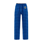 Royal/White Flannel Pajama Pant-IPFW Mastodon Shield
