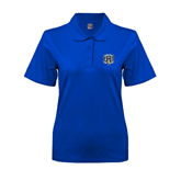 Ladies Easycare Royal Pique Polo-IPFW Mastodon Shield