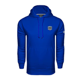 Under Armour Royal Performance Sweats Team Hoodie-IPFW Mastodon Shield