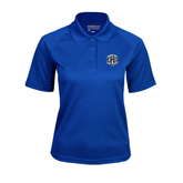 Ladies Royal Textured Saddle Shoulder Polo-IPFW Mastodon Shield