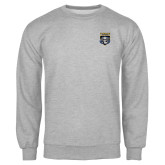 Grey Fleece Crew-Primary Athletic Logo